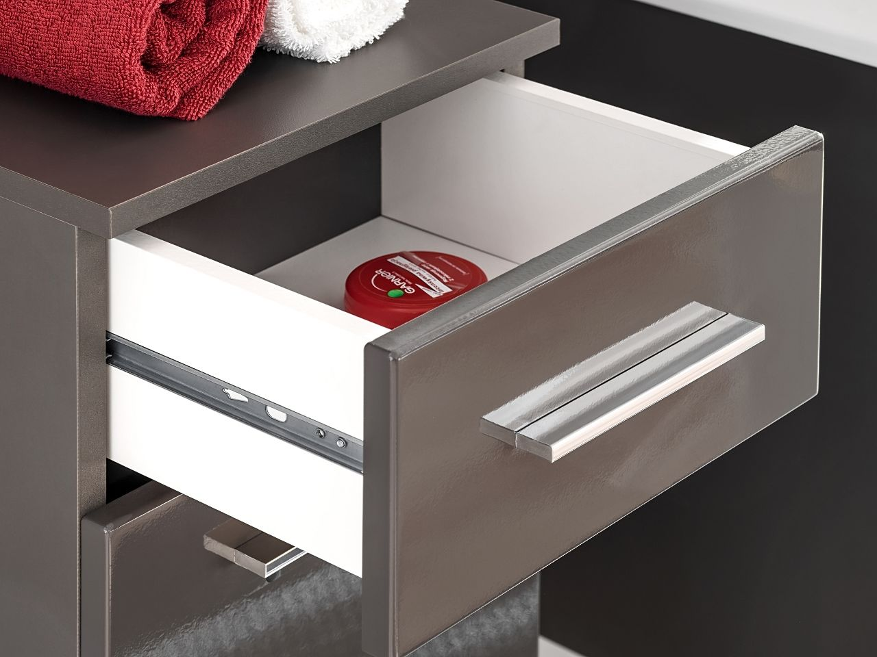 Koupelnová skříňka TWIT GREY 820 - pod umyvadlo 60