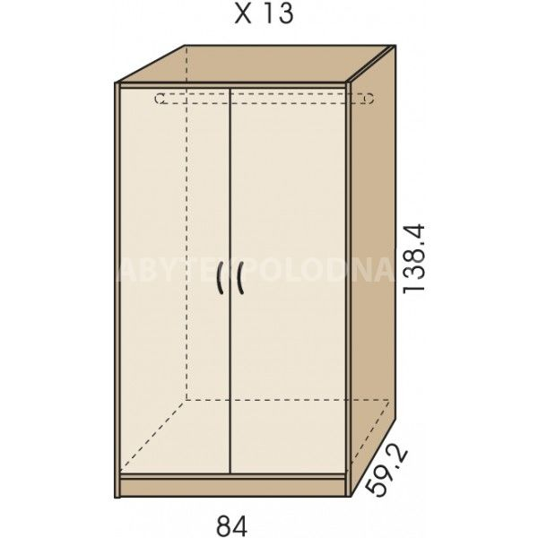 Šatní skříň JIM 5 X 13