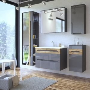 Koupelnová sestava GALLAXY GRAY 160
