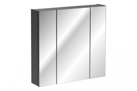 Koupelnová skříňka MONACO GREY 841 - závěsná se zrcadlem