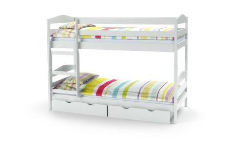 Dětská patrová postel SAM bílá