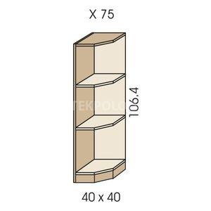 Rohový regál JIM 5 X 75
