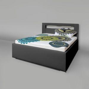 Čalouněná postel AVA LERYN 160 LED Osvětlení