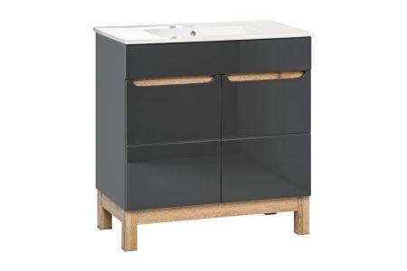 Koupelnová skříňka BALI GREY 820 - pod umyvadlo 60
