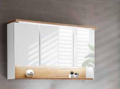 Koupelnová skříňka BAHRAMA WHITE 843 - závěsná zrcadlo 120
