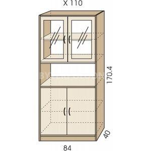 Kombinovaná skříň JIM 5 X 110
