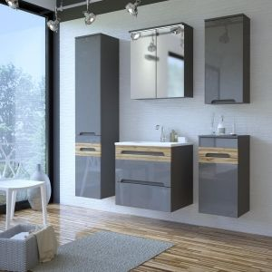 Koupelnová sestava GALLAXY GRAY 130