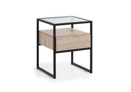Noční stolek GLAS LOOFT GLST