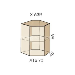 Rohový nástavec na skříň JIM 5 X 63R