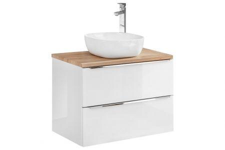 Koupelnová skříňka KAPRI BÍLÁ 820 II - pod umyvadlo 60 s deskou