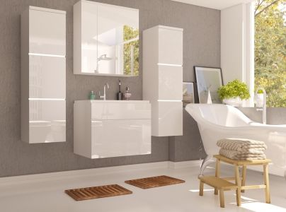 Koupelnová sestava PORTOS WH 01 bílý lesk