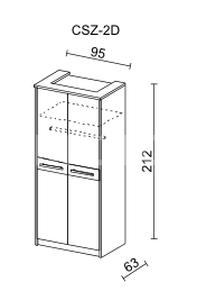 Šatní skříň CREMONA II 2D