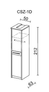Šatní skříň CREMONA II 1 D