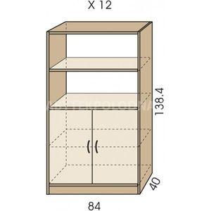 Kombinovaná skříň JIM 5 X 12