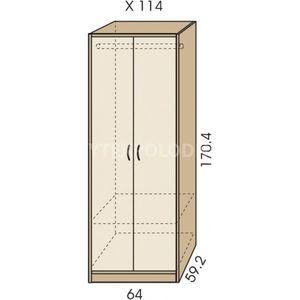 Šatní skříň JIM 5 X 114