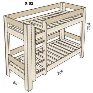 Dětská patrová postel JIM 5 X 02