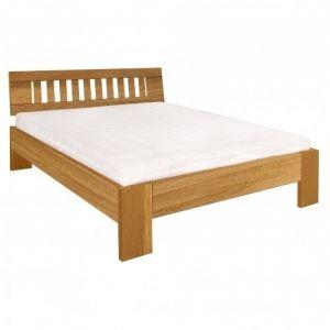 Manželská postel z masivu LK293 dub