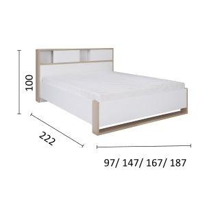 Manželská postel OXFORT