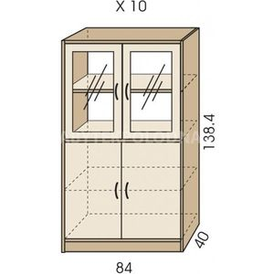 Kombinovaná skříň JIM 5 X 10