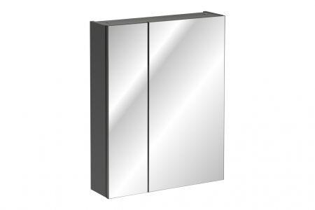 Koupelnová skříňka MONACO GREY 840 - závěsná se zrcadlem
