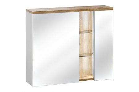 Koupelnová skříňka BAHRAMA WHITE 841 - závěsná zrcadlo 80