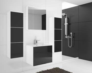 Koupelnová sestava PORTOS BL 01 černý lesk