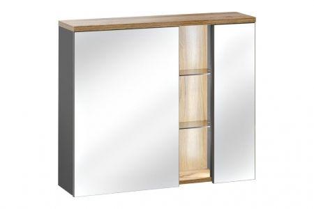 Koupelnová skříňka BAHAMA GREY 840 - závěsná zrcadlo 80