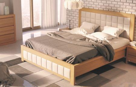 Manželská postel z masivu LK214II dub
