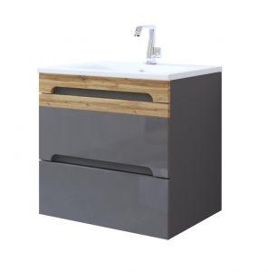 Koupelnová skříňka GALLAXY GRAY 822 - pod umyvadlo 60