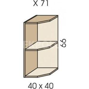 Rohový nástavec na skříň JIM 5 X 71