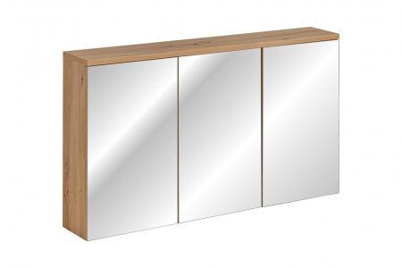 Koupelnová skříňka SAMO 845 - závěsná se zrcadlem 120