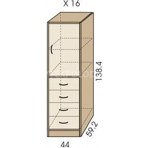 Kombinovaná skříň JIM 5 X 16