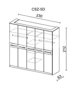 Šatní skříň CREMONA II 5D