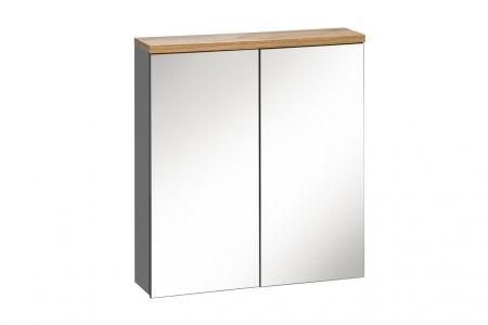 Koupelnová skříňka BALLI GREY 840 - závěsná zrcadlo 60