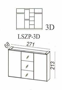 Šatní skříň LONDON 3D 270