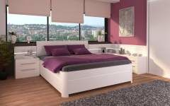 Manželská postel PERLA UP
