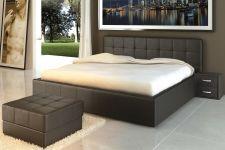 Čalouněná manželská postel DEBBIE